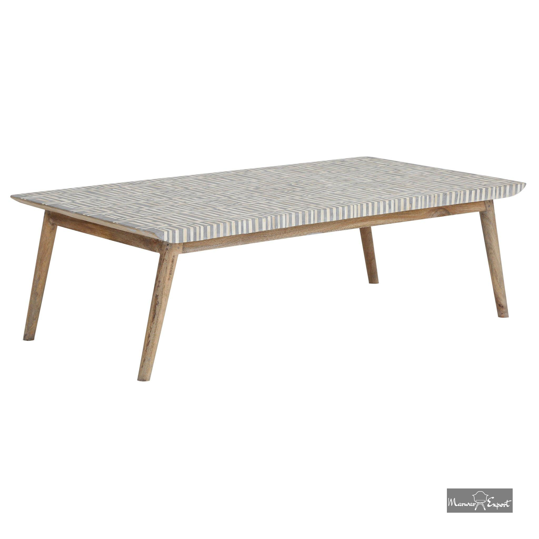 Bone Inlay Coffee Table Grey